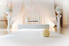 Jüdische Hochzeit Stuhl der Braut Stockfotografie
