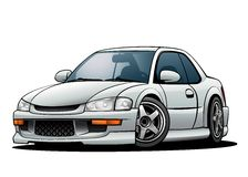 JDM Sports Car 01. A non-branded generic Japanese sports car from the early 1990s models Royalty Free Stock Images
