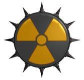 Jądrowy symbol z prickles Zdjęcie Stock