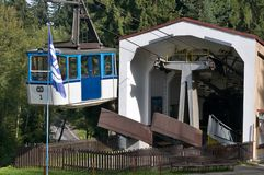 The Ješt�d cable car - lower station Royalty Free Stock Photos