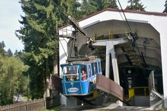 The Ješt�d cable car - lower station Royalty Free Stock Images