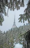 JeÅ-¡ tÄ› d Berg unter dem Schnee lizenzfreie stockfotografie