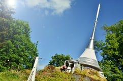 JeÅ-¡ tÄ› d, Spaß gemachter Turm Stockfotografie