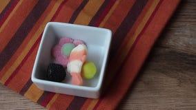 Jeść galaretowych cukierki zbiory wideo