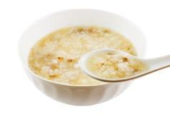 jeść gotowany ryż Obrazy Royalty Free