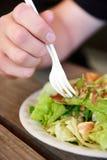 jeść sałatki Zdjęcia Royalty Free