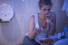 Jeść z kontrola Zdjęcia Royalty Free
