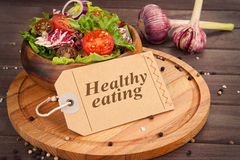 jeść zdrowo pojęcia Obrazy Royalty Free