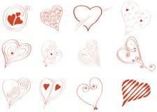 Jeśli chodzi o miłość serca Fotografia Royalty Free