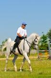 jeźdza arabski koński biel Obrazy Royalty Free