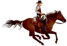 Jeźdza kowbojski gunfighter Fotografia Royalty Free