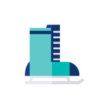 Jeździć na łyżwach ikonę odizolowywającą na białym tle Zdjęcie Stock