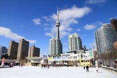 Jeździć na łyżwach przy Harbourfront Centre w Toronto Zdjęcie Royalty Free