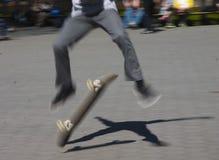 Jeździć na łyżwach w central park Obraz Royalty Free