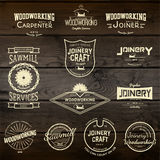 Jeździć na deskorolce odznak etykietki dla żadny i logów use royalty ilustracja