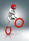 Jeździć na rowerze BMX 3D symbol, Olimpijscy sporty Fotografia Royalty Free
