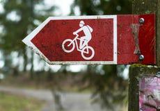 Jeździć na rowerze drogowych znaki Zdjęcia Royalty Free