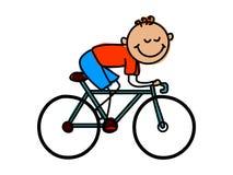 Jeździć na rowerze dzieciaka Kreskówka dzieciaka wektoru ilustracja Obraz Stock