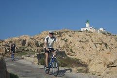 Jeździć na rowerze na Corsica Obraz Royalty Free
