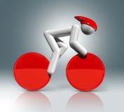Jeździć na rowerze Szlakowego 3D symbol, Olimpijscy sporty Obrazy Stock