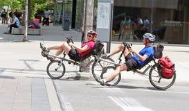 Jeździć na rowerze w Toronto Obrazy Royalty Free
