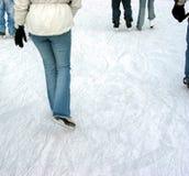 jeździłam na łyżwach Zdjęcia Royalty Free