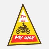 Jeździec świetlicowa odznaka na mój sposobie, Obraz Royalty Free