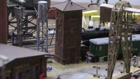 Jeździecka lokomotywa produkuje dym zbiory wideo