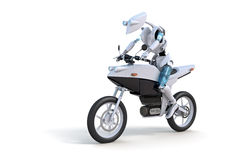 jeździecki motocyklu robot Fotografia Royalty Free