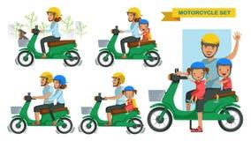 Jeździecki motocyklu set ilustracja wektor