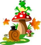 Jeż i żaba Obraz Royalty Free
