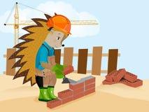 Jeża budowniczy również zwrócić corel ilustracji wektora zdjęcie royalty free