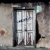 Jeżeli ten stary Canarian drzwi mógł opowiadać obrazy royalty free