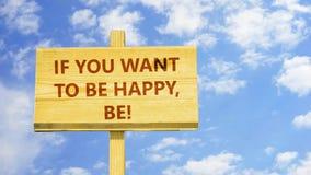 Jeżeli ty chcesz być szczęśliwy, jest ilustracja wektor