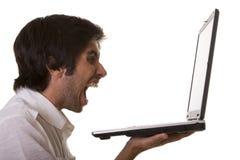 Je déteste des ordinateurs ! Image stock
