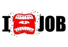 Je déteste le travail symbole de cri de haine et d'antipathie Ouvrez la bouche La Floride illustration de vecteur