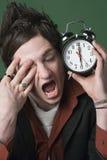 Je déteste mon horloge d'alarme photographie stock
