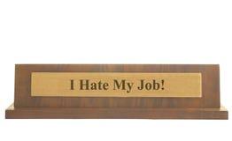 Je déteste mon travail Image libre de droits