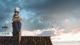 Je deviendrai astronaute et mouche à l'espace Media mélangé photo libre de droits