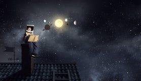 Je deviendrai astronaute et mouche à l'espace Media mélangé photographie stock libre de droits
