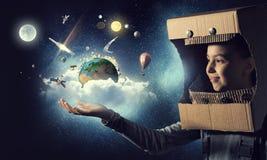 Je deviendrai astronaute et mouche à l'espace Media mélangé images libres de droits