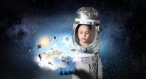 Je deviendrai astronaute et mouche à l'espace Media mélangé photo stock