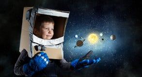 Je deviendrai astronaute et mouche à l'espace Media mélangé Media mélangé photos libres de droits