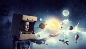 Je deviendrai astronaute et mouche à l'espace Media mélangé Media mélangé image stock