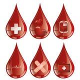 Je donne mon sang avec du sang illustration de vecteur