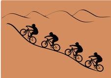 jeździec grupowe ilustracja wektor