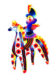 Jeździec na koniu Dymkovo zabawka ilustracja wektor