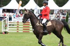 Jeździec na koniu przy Saumur Francja Zdjęcia Royalty Free
