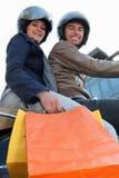 jeździecka pary hulajnoga Zdjęcia Stock