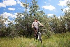 jeździecka rower kobieta Zdjęcie Stock